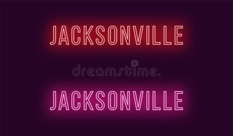 Όνομα νέου της πόλης του Τζάκσονβιλ στις ΗΠΑ Διανυσματικό κείμενο απεικόνιση αποθεμάτων