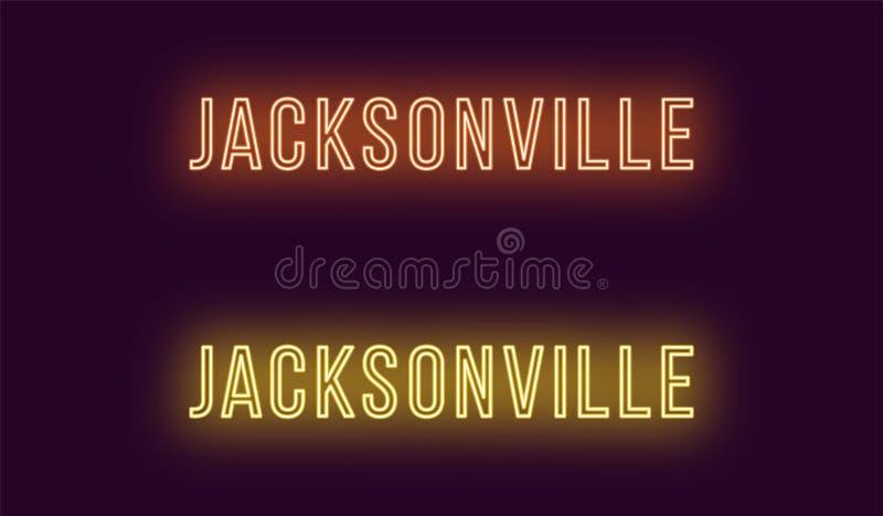 Όνομα νέου της πόλης του Τζάκσονβιλ στις ΗΠΑ Διανυσματικό κείμενο ελεύθερη απεικόνιση δικαιώματος