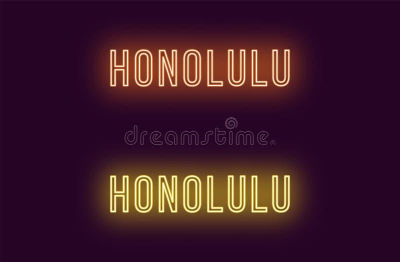Όνομα νέου της πόλης της Χονολουλού στη Χαβάη Διανυσματικό κείμενο ελεύθερη απεικόνιση δικαιώματος