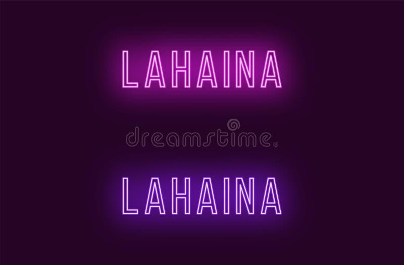 Όνομα νέου της πόλης Lahaina στη Χαβάη Διανυσματικό κείμενο διανυσματική απεικόνιση