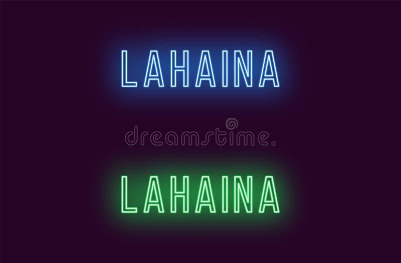 Όνομα νέου της πόλης Lahaina στη Χαβάη Διανυσματικό κείμενο απεικόνιση αποθεμάτων