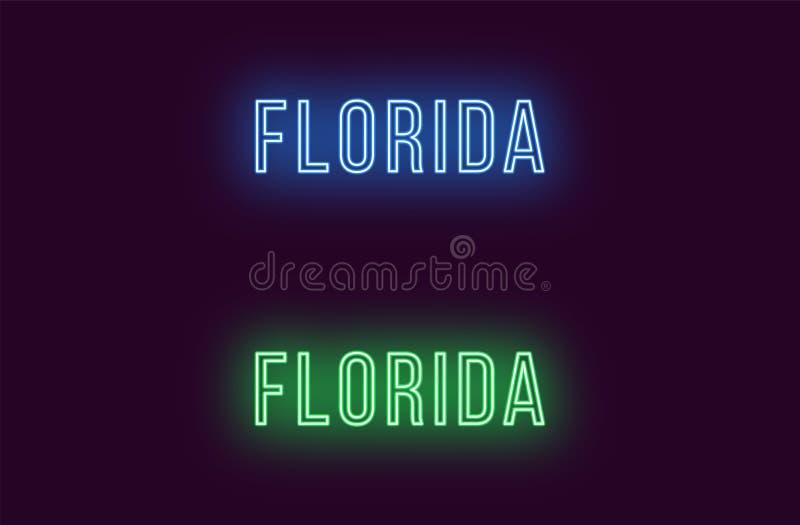 Όνομα νέου του κράτους της Φλώριδας στις ΗΠΑ Διανυσματικό κείμενο απεικόνιση αποθεμάτων