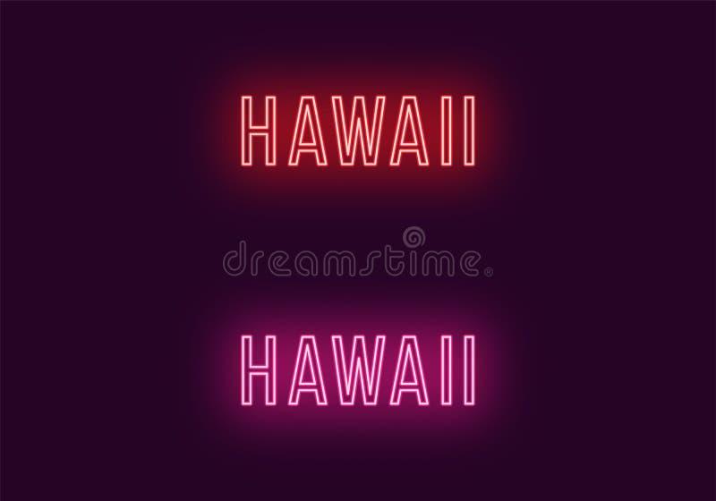 Όνομα νέου του κράτους της Χαβάης στις ΗΠΑ Διανυσματικό κείμενο απεικόνιση αποθεμάτων