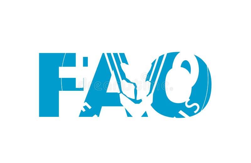 όνομα σημαιών FAO διανυσματική απεικόνιση