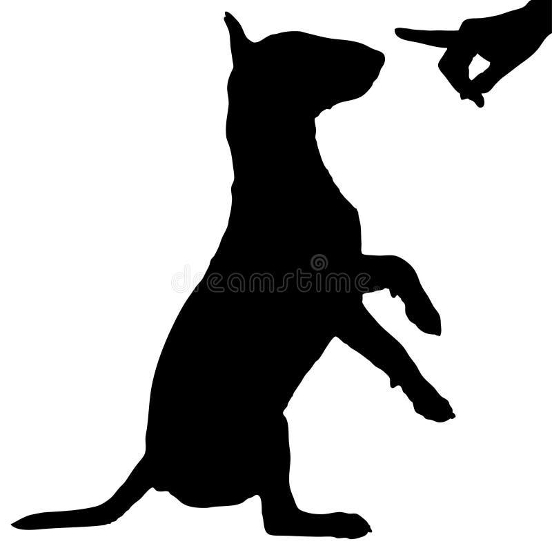 όντας σκυλί που επιπλήττ&epsil στοκ εικόνες