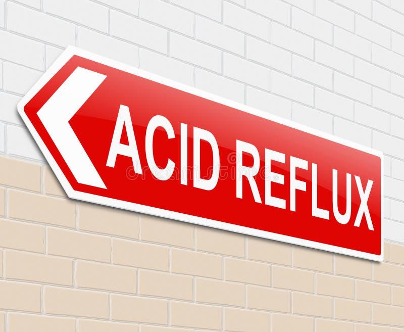 Όξινη reflux έννοια. διανυσματική απεικόνιση