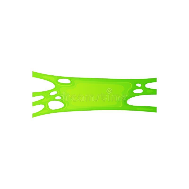 Όξινο πράσινο γλοιώδες υγρό με ομαλή, ρεαλιστική υφή τσίχλου διανυσματική απεικόνιση
