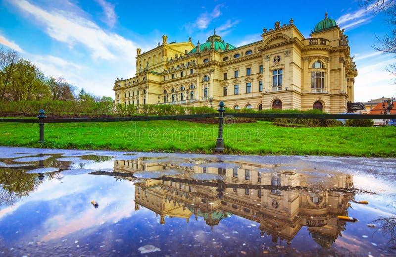 Όπερα θεάτρων Slowacki Juliusz στην Κρακοβία, Πολωνία στοκ φωτογραφίες