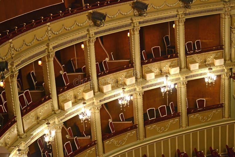 όπερα μπαλκονιών στοκ φωτογραφίες