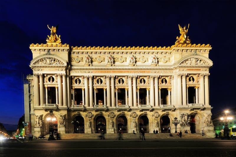 όπερα Παρίσι νύχτας στοκ εικόνα