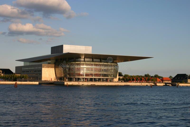 όπερα σπιτιών της Κοπεγχάγης Δανία στοκ φωτογραφία