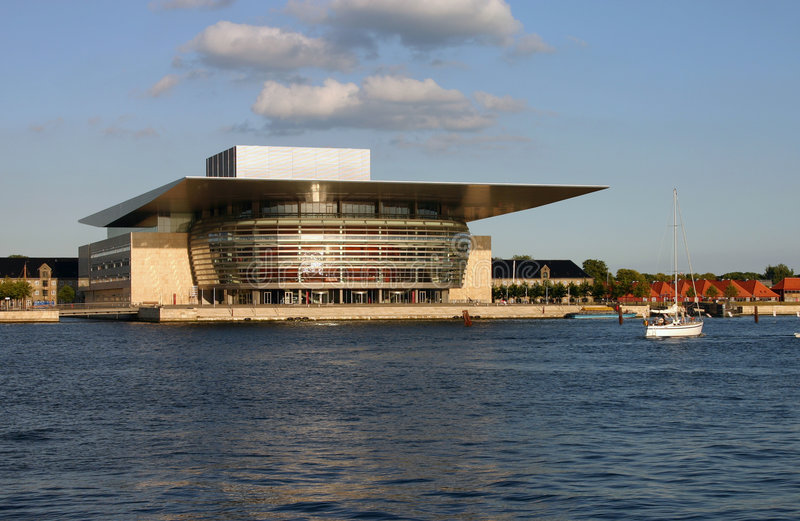 όπερα σπιτιών της Κοπεγχάγης στοκ εικόνα με δικαίωμα ελεύθερης χρήσης