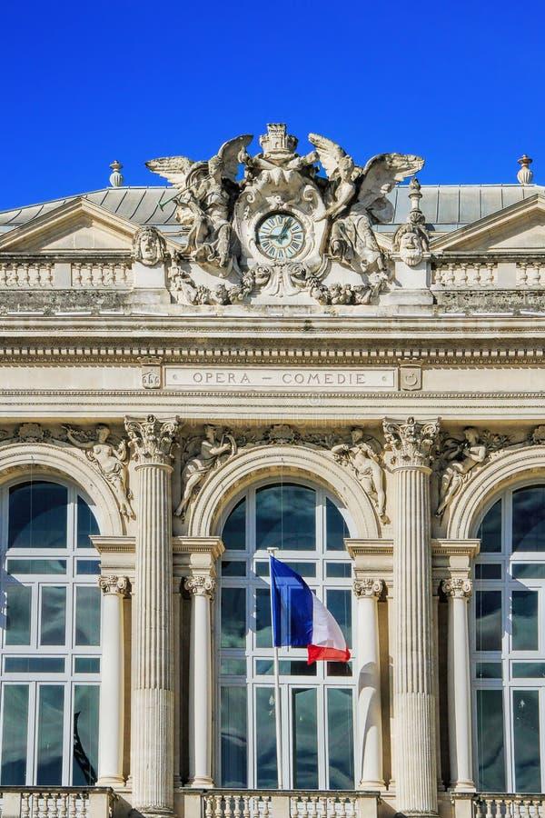 Όπερα στο Μονπελιέ, Γαλλία στοκ φωτογραφία με δικαίωμα ελεύθερης χρήσης