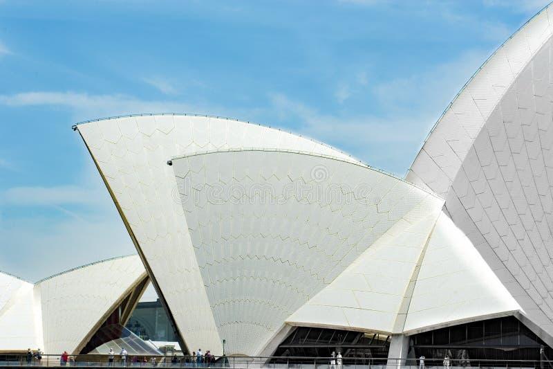 Όπερα του Σίδνεϊ, λεπτομέρεια στεγών στοκ φωτογραφία με δικαίωμα ελεύθερης χρήσης