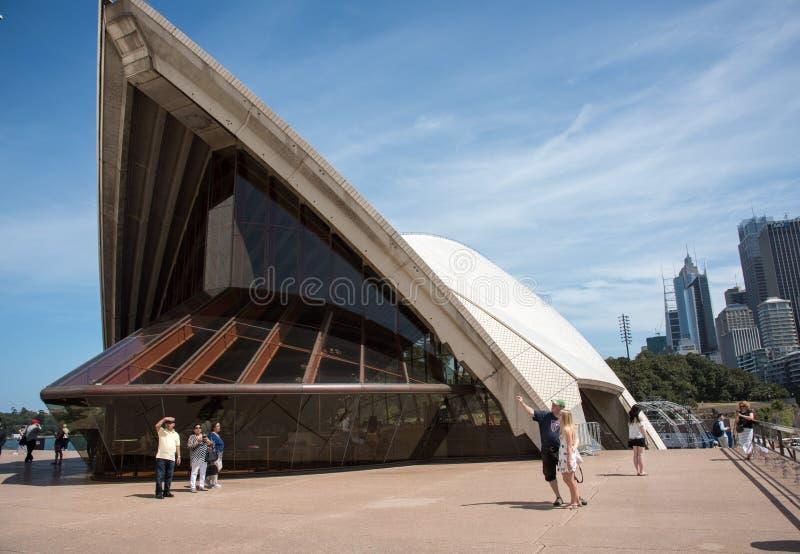 Όπερα του Σίδνεϊ: Αρχιτεκτονική λεπτομέρεια στοκ φωτογραφία