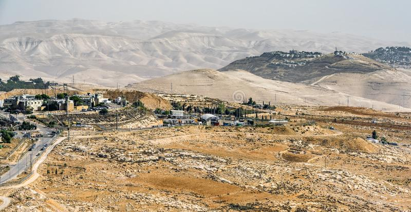 Όπου η έρημος συναντά την πόλη Ιερουσαλήμ, Ισραήλ στοκ φωτογραφία με δικαίωμα ελεύθερης χρήσης