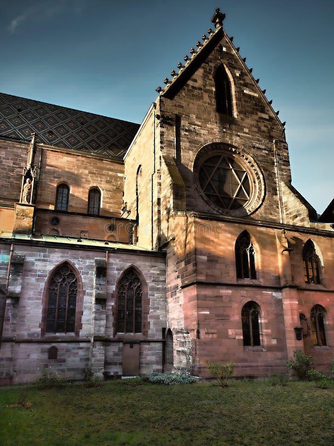Όπως εσείς περίπατος μέσω της παλαιάς πόλης της Βασιλείας, ένας από ο πιό άθικτος και όμορφος στην Ευρώπη στοκ εικόνα
