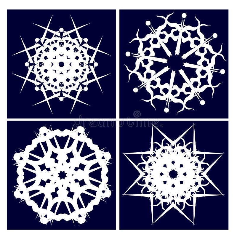 όπως η ανασκόπηση είναι μπορεί τέσσερα snowflakes απεικόνισης χρησιμοποιούμενα στοκ φωτογραφία με δικαίωμα ελεύθερης χρήσης