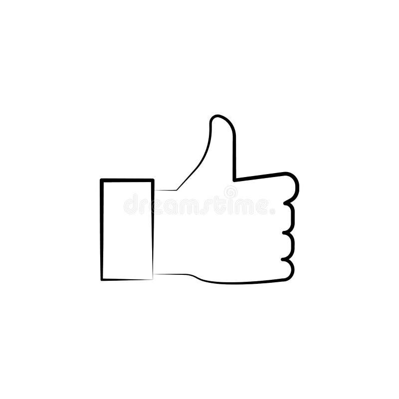 όπως, συρμένο χέρι εικονίδιο χεριών Σχέδιο συμβόλων περιλήψεων από το επιχειρησιακό σύνολο ελεύθερη απεικόνιση δικαιώματος