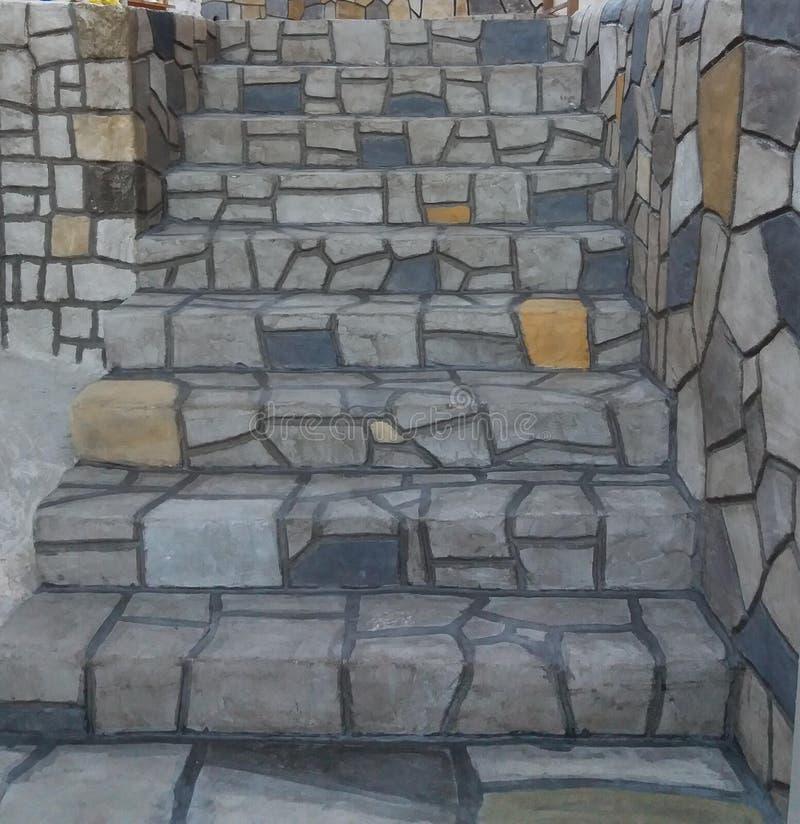 Όπως τα πραγματικά σκαλοπάτια Kazarma Messinias πετρών στοκ εικόνα με δικαίωμα ελεύθερης χρήσης