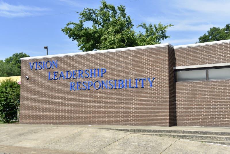 Όραμα, ηγεσία, ευθύνη, Ida Β Ακαδημία φρεατίων, Μέμφιδα, TN στοκ φωτογραφία