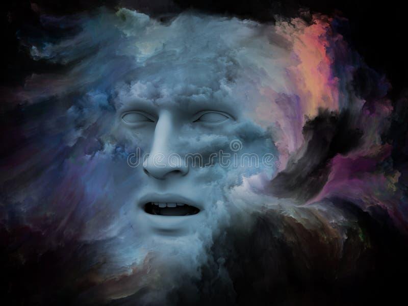 Όραμα του χρωματισμένου ονείρου διανυσματική απεικόνιση