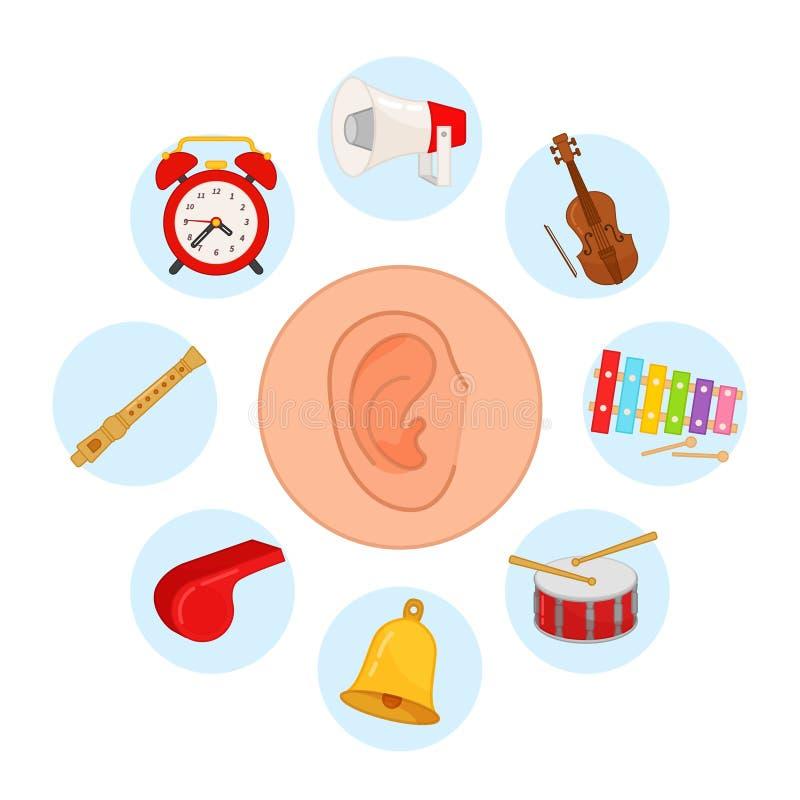 5 όργανα αίσθησης Ακρόαση απεικόνιση αποθεμάτων