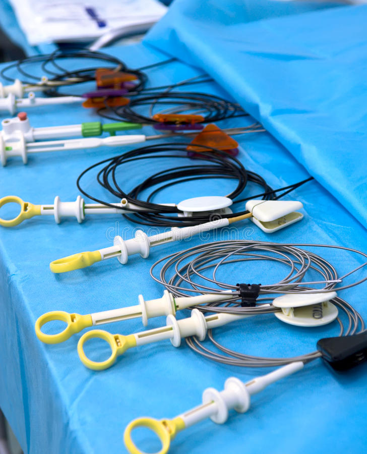όργανα ενδοσκόπησης ιατρικά στοκ φωτογραφία με δικαίωμα ελεύθερης χρήσης