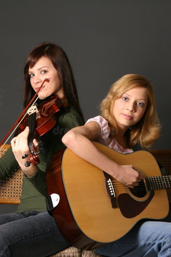 όργανα κοριτσιών μουσικά στοκ εικόνα