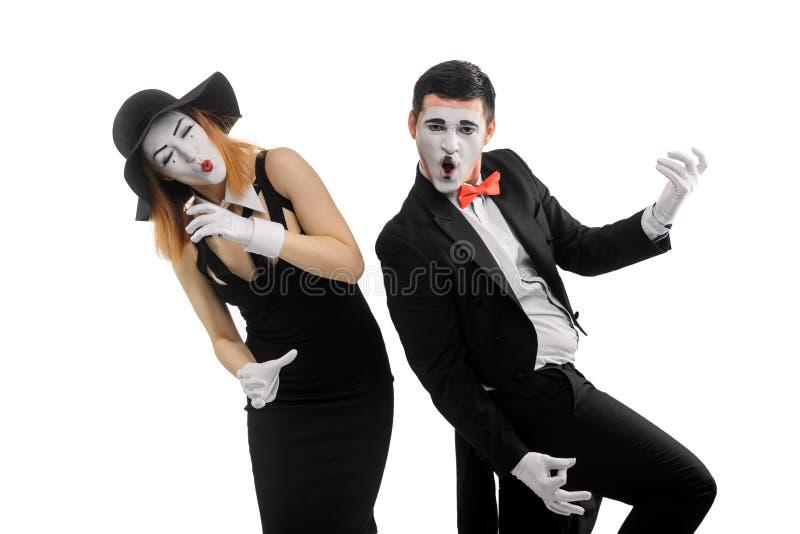 Όργανα μουσικής παιχνιδιού Mimes στοκ φωτογραφίες