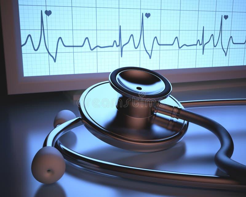 Όργανο ελέγχου κτύπου της καρδιάς ελεύθερη απεικόνιση δικαιώματος