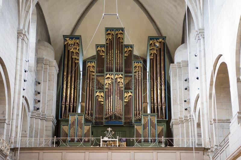 Όργανο στην εκκλησία Grossmunster Ζυρίχη στοκ φωτογραφίες με δικαίωμα ελεύθερης χρήσης