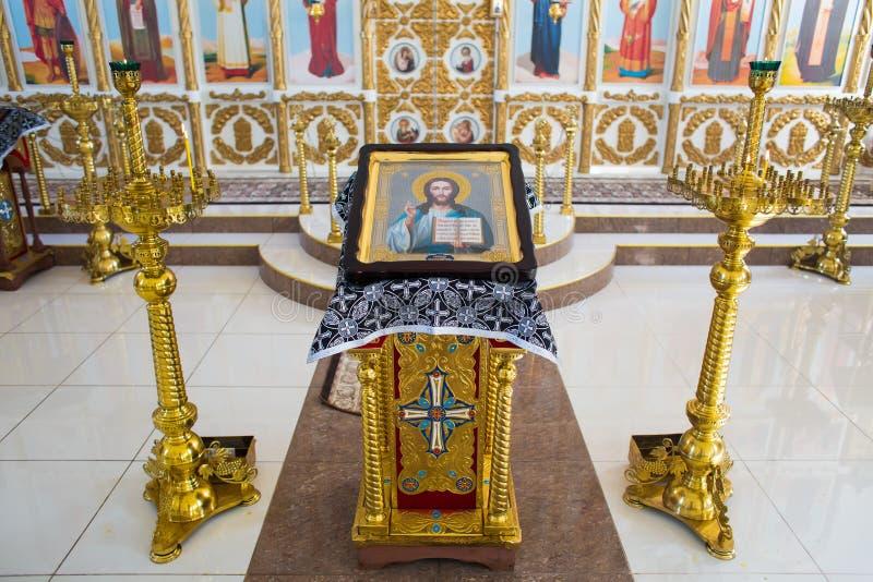 Όρενμπουργκ, ρωσικά ομοσπονδία-2 Aprel 2019 εικονίδιο του Ιησούς Χριστού ο  στοκ εικόνα με δικαίωμα ελεύθερης χρήσης