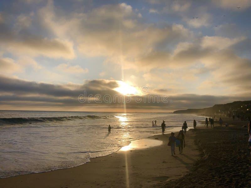 Όρμος της Chrystal Λαγκούνα Μπιτς στο ηλιοβασίλεμα στοκ εικόνα
