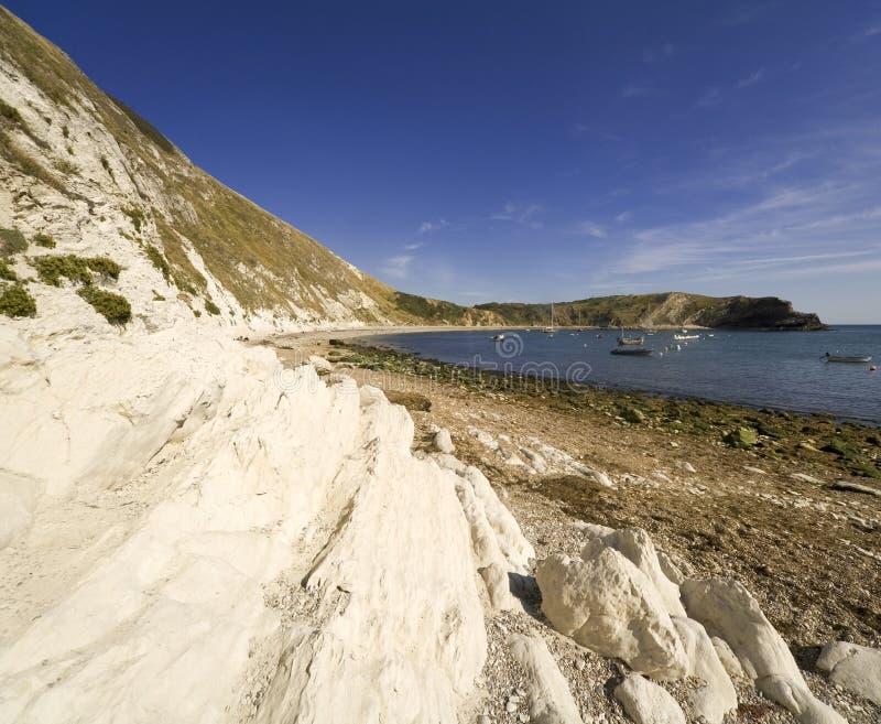 όρμος Dorset Αγγλία ακτών lulworth στοκ φωτογραφίες