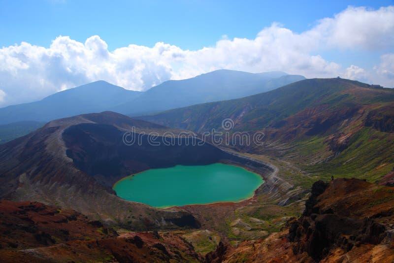 Όρος Zao και λίμνη κρατήρων στοκ φωτογραφίες με δικαίωμα ελεύθερης χρήσης