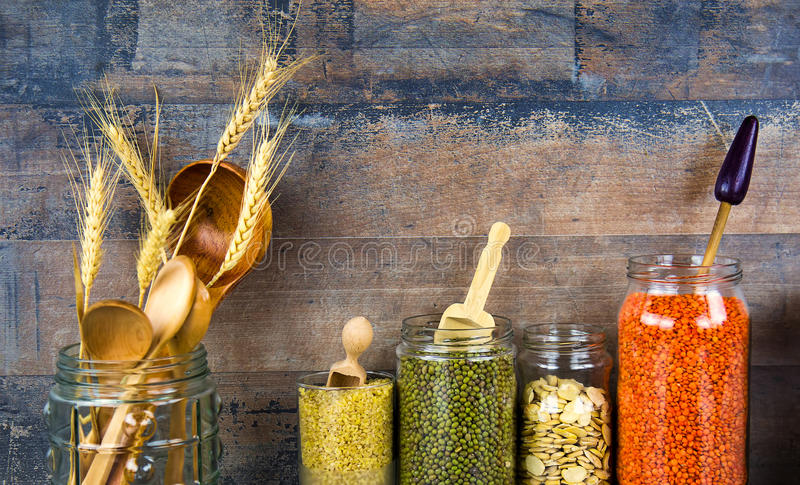 Όσπρια Dlicious και υγιή φυσικά τρόφιμα μιγμάτων στοκ φωτογραφία με δικαίωμα ελεύθερης χρήσης