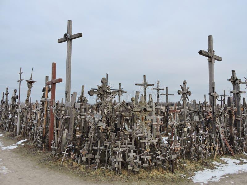 λόφος Λιθουανία σταυρών στοκ εικόνα με δικαίωμα ελεύθερης χρήσης