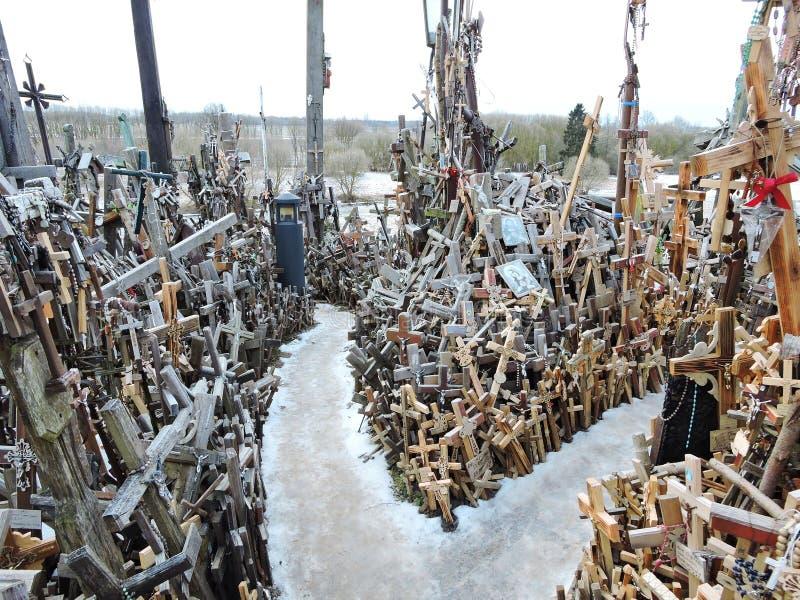 λόφος Λιθουανία σταυρών στοκ φωτογραφία με δικαίωμα ελεύθερης χρήσης