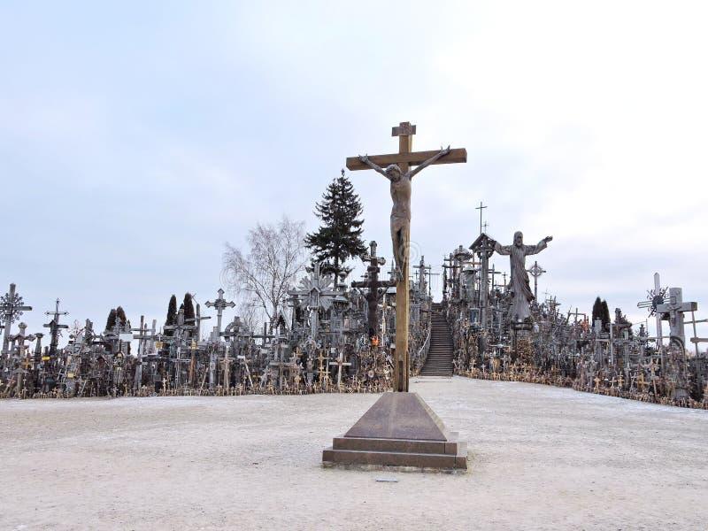 λόφος Λιθουανία σταυρών στοκ εικόνες με δικαίωμα ελεύθερης χρήσης