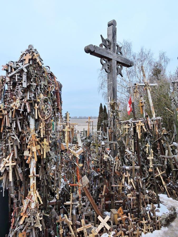 λόφος Λιθουανία σταυρών στοκ φωτογραφίες με δικαίωμα ελεύθερης χρήσης