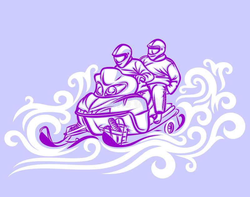 Όχημα για το χιόνι ελεύθερη απεικόνιση δικαιώματος