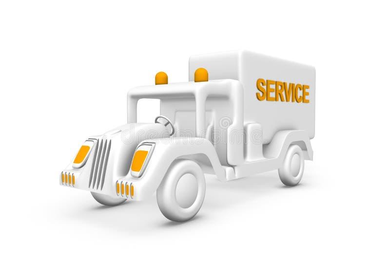 όχημα υπηρεσιών διανυσματική απεικόνιση