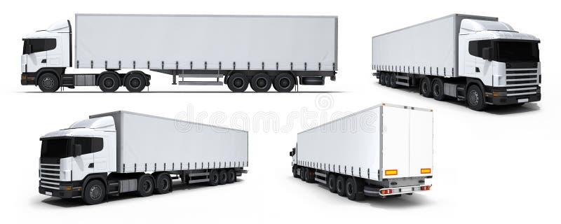 όχημα truck παράδοσης συλλογής φορτίου διανυσματική απεικόνιση