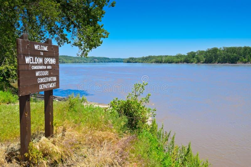 Όχθεις του ποταμού του Μισσούρι στοκ εικόνα