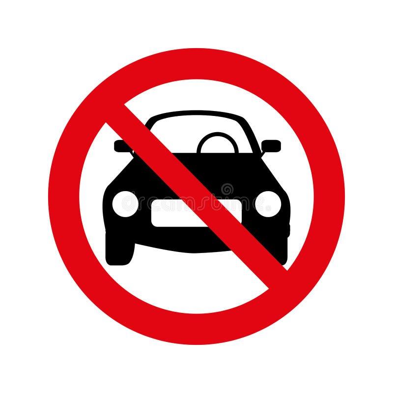 Όχι εικονίδιο σημάτων στάθμευσης απεικόνιση αποθεμάτων