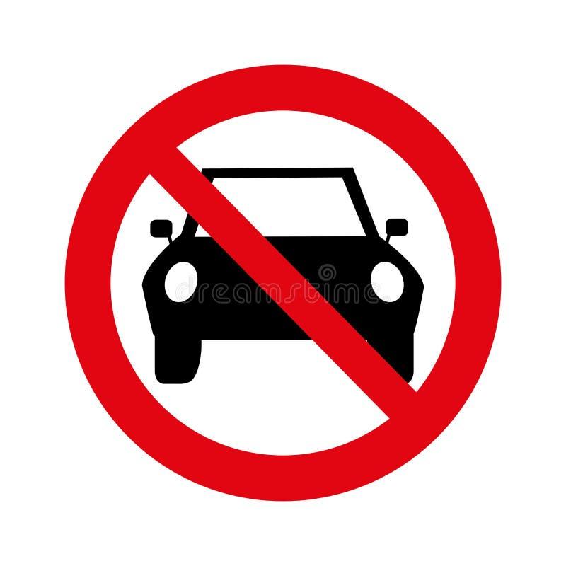 Όχι εικονίδιο σημάτων στάθμευσης διανυσματική απεικόνιση