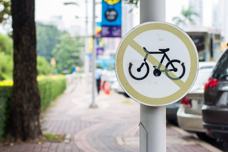 Όχι ποδήλατο γύρου στον τρόπο περιπάτων στοκ εικόνες