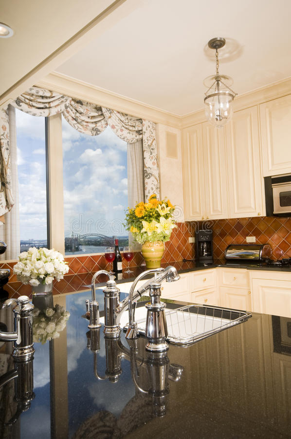 όψεις οριζόντων κουζινών πό στοκ φωτογραφίες