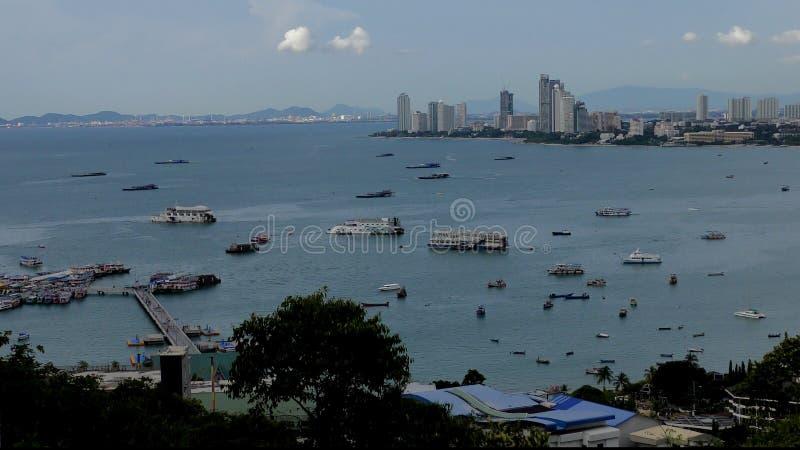 όψη αποβαθρών s pattaya ψαράδων πόλεων Ταϊλάνδη Condo Pattaya Άποψη Naklua στοκ εικόνες με δικαίωμα ελεύθερης χρήσης